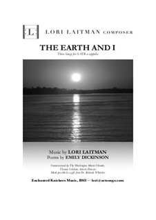 The Earth and I: The Earth and I (priced for 20 copies) by Lori Laitman