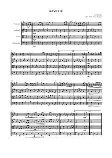 Gavotte für Streichquartett: Gavotte für Streichquartett by Georg Friedrich Händel