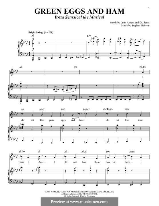 Green Eggs and Ham (Dr. Seuss): Für Stimme und Klavier by Stephen Flaherty