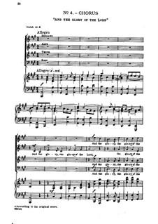 Nr.4 Denn die Herrlichkeit Gottes des Herrn: Klavierauszug mit Singstimmen by Georg Friedrich Händel