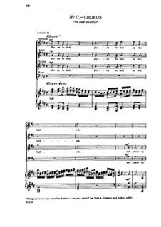 Nr.17 Ehre sei dir Gott in der Höhe: Klavierauszug mit Singstimmen by Georg Friedrich Händel