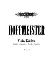 Zwölf Etüden für Bratsche: Vollsammlung by Franz Anton Hoffmeister