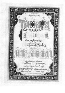 Tamara: Für Klavier, vierhändig by Mily Balakirev