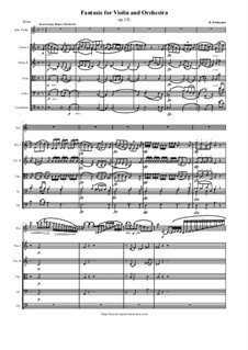 Fantasie in C-Dur, Op.131: Score and parts by Robert Schumann
