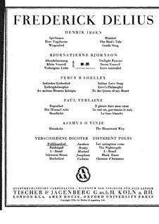 Den Lenz lass kommen: Den Lenz lass kommen by Frederick Delius
