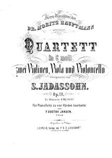 Streichquartett in c-Moll, Op.10: Bearbeitung für Klavier, vierhändig by Salomon Jadassohn