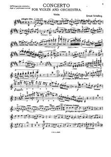 Konzert für Violine und Orchester in H-Dur: Bearbeitung für Violine und Klavier – Solostimme by Ernest Schelling