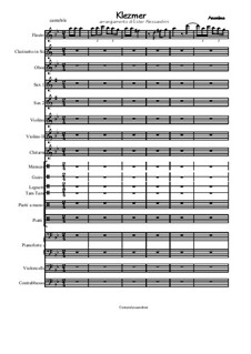 Klezmer: For chamber orchestra by folklore