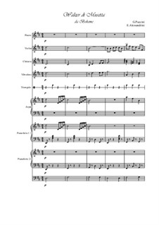 Walzer di Musetta: For chamber orchestra by Giacomo Puccini