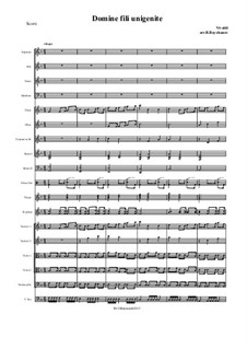 Domine fili unigenide: For choir and chamber orchestra by Antonio Vivaldi