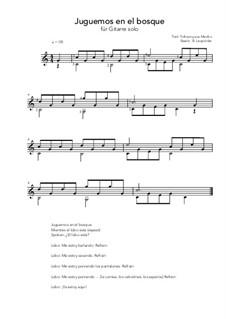 Juguemos en el bosque: For guitar solo (C Major) by folklore