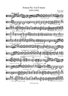 Sonata No.5 in F minor (solo viola): Sonata No.5 in F minor (solo viola) by Jordan Grigg