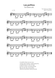 Los pollitos: For guitar solo (very easy version) G Major by folklore