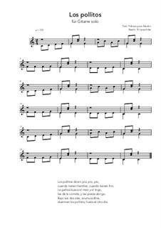Los pollitos: For guitar solo (very easy version) C Major by folklore