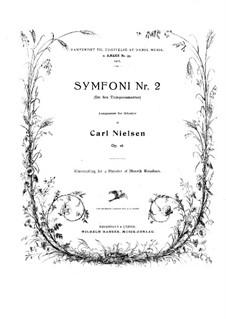 Sinfonie Nr.2 'Die vier Temperamente', FS 29 Op.16: Version für Klavier, vierhändig by Carl Nielsen