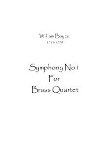 Symphony No.1: For wind quartet by William Boyce