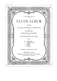 Salon-Album. Sechs Stücke, Op.43: Partitur by August Nölck
