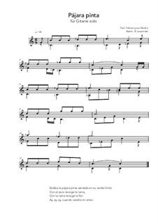 Pájara pinta: For guitar solo (C Major) by folklore