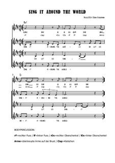 Sing it around the world - Kanon, Circle Song mit Bodypercusiion, SB14: Sing it around the world - Kanon, Circle Song mit Bodypercusiion by Soerin Bergmann