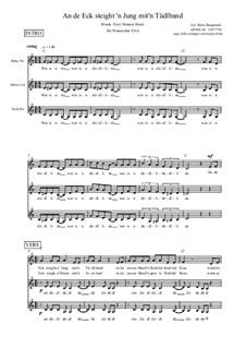 An de Eck steit 'n Jung mit'n Tüdelband – Hamburg – Swingversion für Frauenchor SAA, Sb15: An de Eck steit 'n Jung mit'n Tüdelband – Hamburg – Swingversion für Frauenchor SAA by Henner Hoier