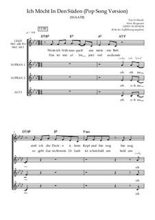 Ich möcht' in den Süden - Pop / Schlager / Jazz: Gemischter Chor SSAATB, SB13d by Soerin Bergmann