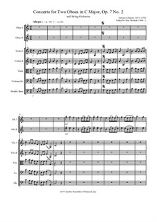 Concerto No.2 in C Major: For two oboes and string orchestra by Tomaso Albinoni