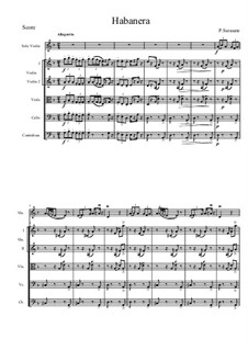 Habanera, Op.21: For violin and string orchestra by Pablo de Sarasate