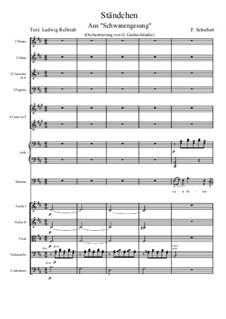 Nr.4 Ständchen: For voice and symphonic orchestra by Franz Schubert