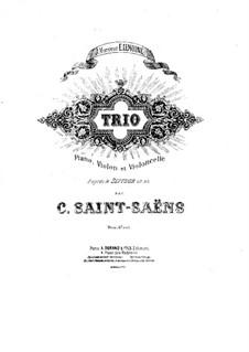 Septett in Es-Dur, Op.65: Version für Klaviertrio by Camille Saint-Saëns