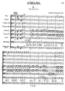 Vollständige Satz: Supplement by Wolfgang Amadeus Mozart