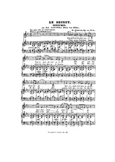 Geheimes, D.719 Op.14 No.2: Klavierauszug mit Singstimmen by Franz Schubert