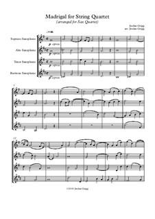 Madrigal: Für Saxophonquartett by Jordan Grigg