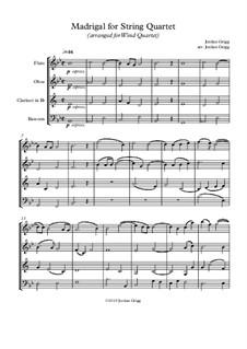 Madrigal: For wind quartet by Jordan Grigg