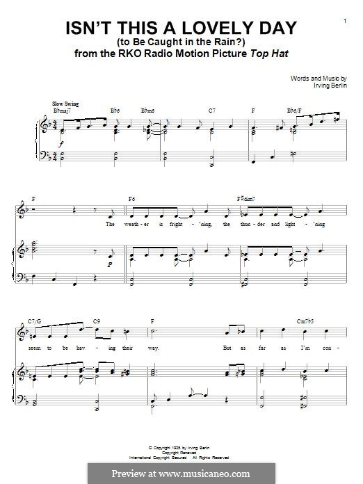 Isn't This a Lovely Day (To Be Caught in the Rain?): Für Stimme und Klavier by Irving Berlin