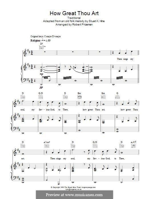 Du grosser Gott, wenn ich die Welt betrachte: Für Stimme und Klavier by folklore