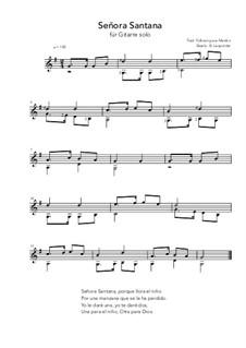 Señora Santana: Für Gitarre by folklore