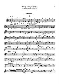 Scheherazade, Op.35: Klarinettenstimmen by Nikolai Rimsky-Korsakov