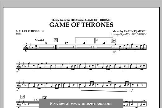 Game of Thrones (arr. Michael Brown): Mallet Percussion part by Ramin Djawadi