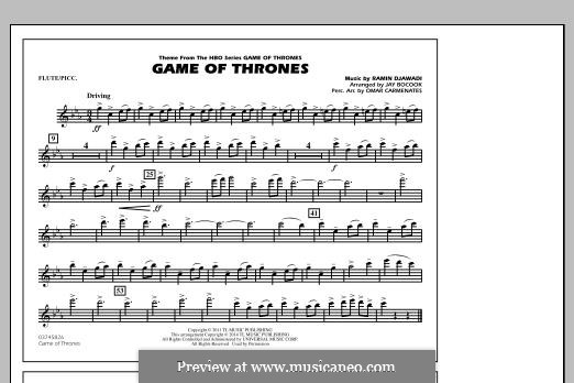 Game of Thrones (arr. Jay Bocook): Flute/Piccolo part by Ramin Djawadi