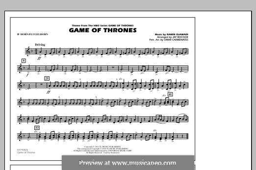 Game of Thrones (arr. Jay Bocook): Bb Horn/Flugelhorn part by Ramin Djawadi