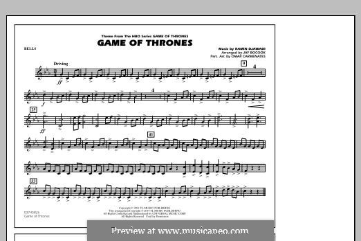 Game of Thrones (arr. Jay Bocook): Bells part by Ramin Djawadi