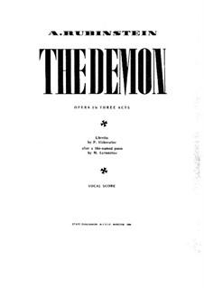 Der Dämon: Akt I, Bild I, für Stimmen und Klavier by Anton Rubinstein