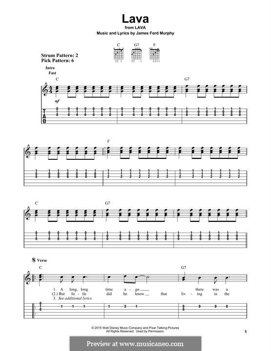 Lava: Für Gitarre by James Murphy