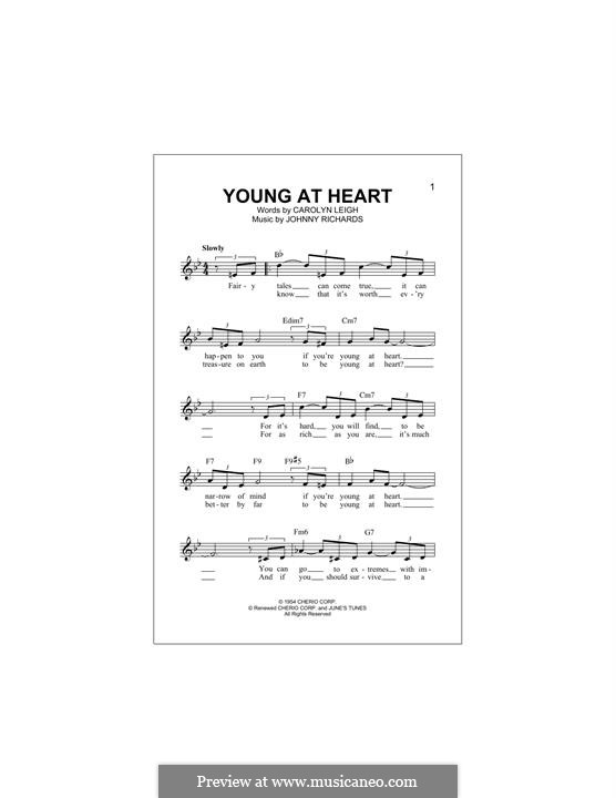 Young at Heart: Melodische Linie by Johnny Richards