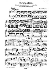Die Teufelswand, T.129: Introduktion für Klavier by Bedřich Smetana