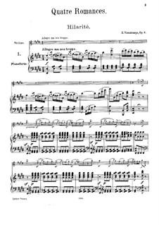 Vier Romanzen ohne Worte, Op.8: Vollsammlung by Henri Vieuxtemps