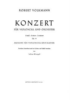 Cellokonzert in a-moll, Op.33: Cellokonzert in a-moll by Robert Volkmann