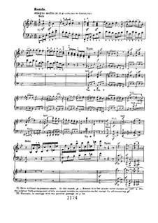 Konzert für Klavier und Orchester Nr.2, Op.19: Rondo, für zwei Klaviere, vierhändig by Ludwig van Beethoven
