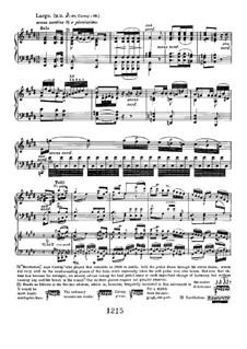 Konzert für Klavier und Orchester Nr.3, Op.37: Largo. Version für zwei Klaviere, vierhändig by Ludwig van Beethoven