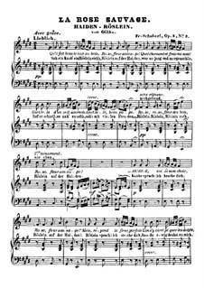 Heidenröslein, D.257 Op.3 No.3: Klavierauszug mit Singstimmen by Franz Schubert